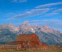 Grand Tetons Mormon Barn Note Card
