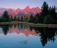 Grand Tetons Schwabachers Landing Note Card
